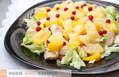 Pineapple salads are the best recipes. How to properly and deliciously prepare salads with pineapples.