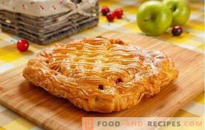 Cherry Yeast Pie - Sweet Temptation! Recipes of different yeast cherry pies: open and closed