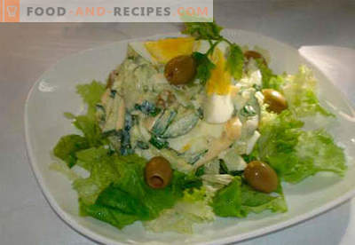 Salad with cucumber and egg - the five best recipes. How to properly and tasty to cook a salad with cucumber and egg.