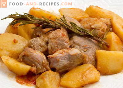 Stewed potatoes with meat - the best recipes. How to properly and tasty cook stew potatoes with meat.