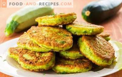 Vegetable marrow dumplings - tasty, fast, inexpensive. Squash pancakes in the pan and in the oven