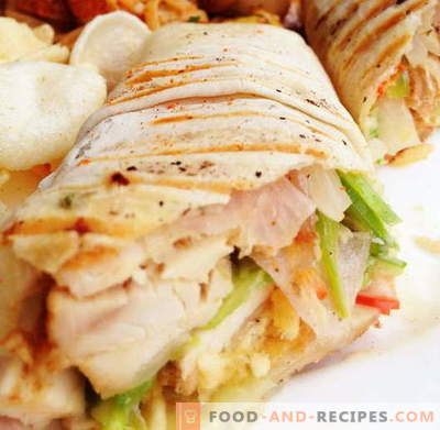 Shawarma with chicken - the best recipes. How to properly and tasty cook shawarma with chicken.