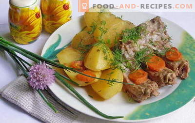 Stewed potatoes with ribs - an unforgettable aroma of calm! Best Recipes for Braised Potato with Ribs: Step-by-step description