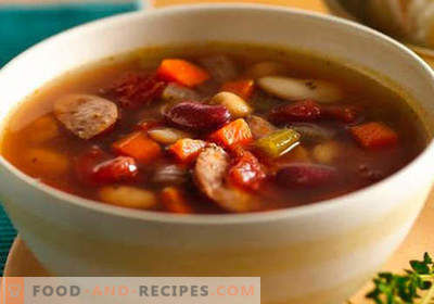 Sausage soup - proven recipes. How to properly and tasty cook soup with sausage.