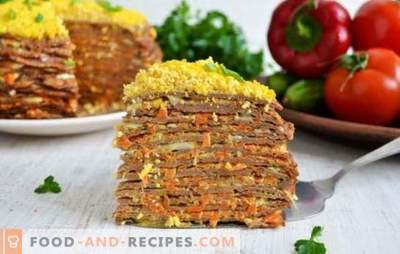 Liver cake with carrots and onions - an excellent appetizer! The best recipes, tips and secrets of cooking cake from the liver with carrots and onions