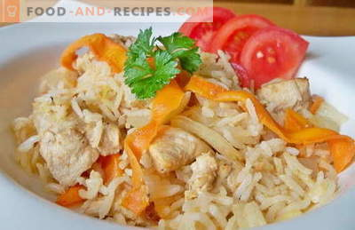 Rice with chicken in a slow cooker - the best recipes. How to properly and tasty cook rice with a slow cooker.