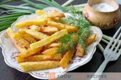 Homemade french fries are tastier, more natural and cheaper than at McDonalds. How to cook french fries at home.
