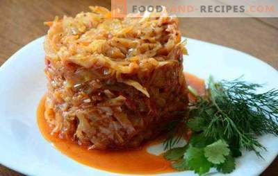 Cabbage with minced meat stewed in a pan is a juicy dish. How to cook cabbage with minced stew in a pan