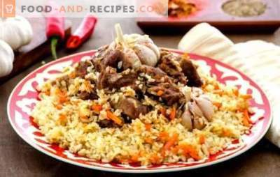 Uzbek pilaf (step-by-step recipe) is a traditional oriental dish. Step-by-step recipes for Uzbek pilaf with beef and pork