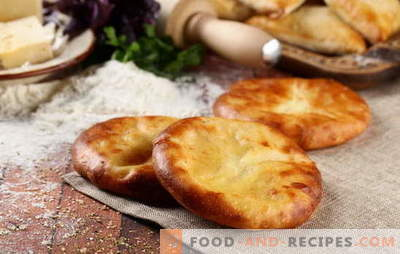 Khachapuri on kefir in the oven and in the pan. How to cook khachapuri with cheese on kefir: options for toppings