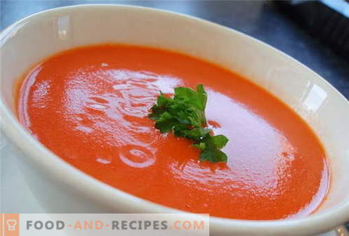 Tomato soup - the best recipes. How to properly and cook tomato soup.