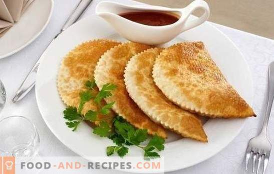 Crispy pasties: step-by-step recipes for filling and dough. Cooking at home juicy, fragrant and crunchy pasties with step-by-step recipes