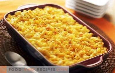 Pasta Casserole in the oven with cheese - satisfying! Original mushroom, meat, vegetable pasta casseroles in the oven with cheese