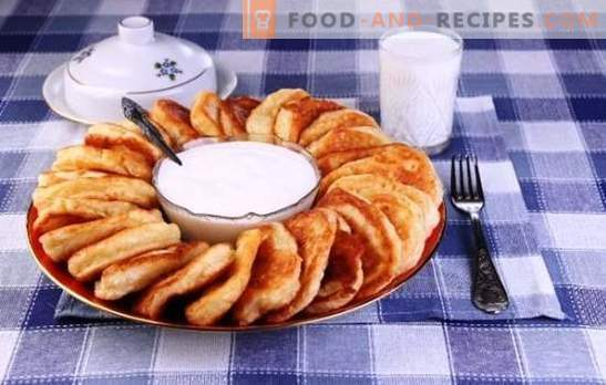 Fritters on milk - the best recipes and tips. How to cook delicious and fluffy pancakes with milk