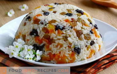 Dried fruit pilaf: don't forget important details!