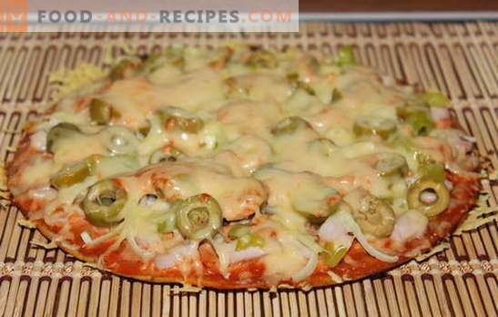 A yeast-free pizza recipe is interesting! Many recipes for making pizza on yeast-free dough - choose!