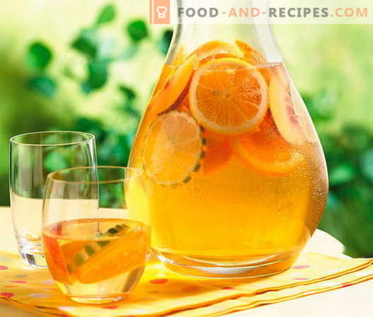 Compote from oranges - the best recipes. How to properly and tasty compote of oranges.