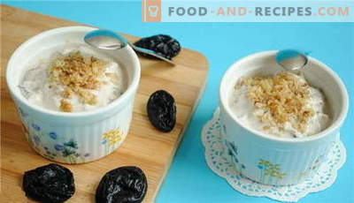 Prunes in sour cream - the best recipes. How to properly and tasty cook prunes in sour cream.