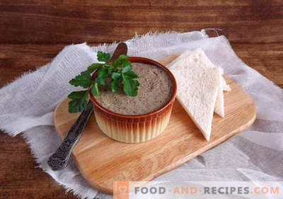 Pate for the winter - the best recipes. How to properly and deliciously prepare pates for the winter.
