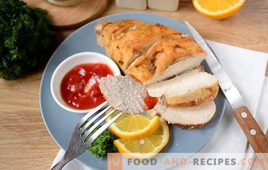 Chicken fillet in foil in a slow cooker: high-protein and low-calorie dish. Diversify diet - bake the breast in foil in a slow cooker!