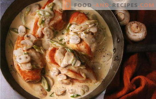 The best chicken fillet recipes in a creamy sauce. How to cook chicken fillet in a creamy sauce in a pan and in the oven