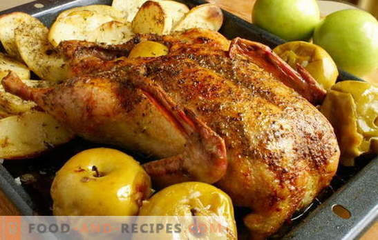 A goose in the oven with potatoes is king on the holiday table! How can you cook the goose in the oven with potatoes whole and pieces