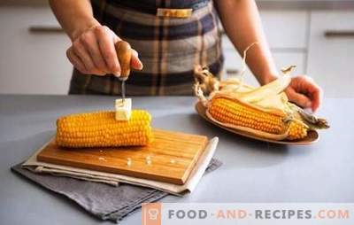 Corn in milk is a tender cereal with a creamy taste. Several ways of cooking corn with milk and butter