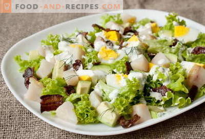 Smoked fish salad - the best recipes. How to properly and tasty to cook a salad of smoked fish.