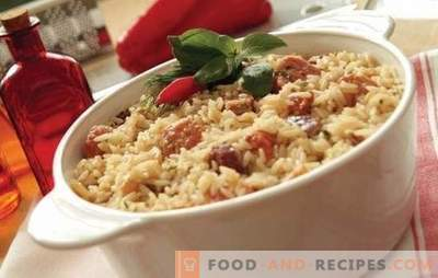 Rice with meat: step-by-step recipes. How to cook pilaf in pots, casserole or fry in Chinese rice with meat (step by step)