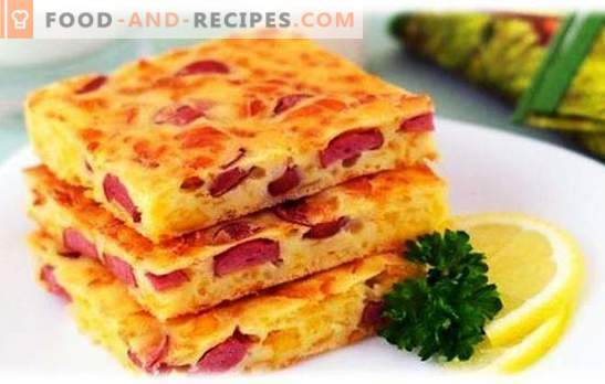 Casseroles with sausage and cheese - everyone will be full! Simple recipes of different casseroles with sausage and cheese