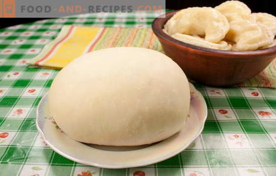 Dough for dumplings with potatoes is different. Recipes of dumplings with potatoes, from dough on water, milk, sour cream, kefir and broth