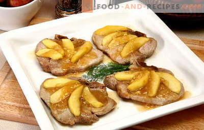 Meat with apples is a wonderful ensemble! Recipes amazing meat with apples in the oven, in pots, in the pan