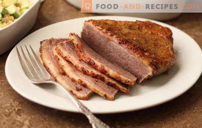 Meat in mustard - fragrant, homemade, spicy. Baked and roasted meat in mustard: with wine, honey, mayonnaise