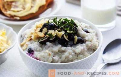 Cooking rice porridge with milk for breakfast. Tested recipes pumpkin porridge with rice, milk