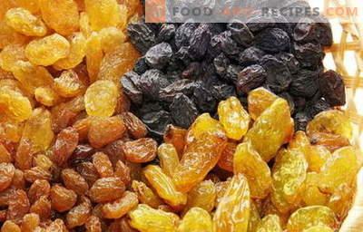 Raisin - description, properties, use in cooking. Recipes with raisins.
