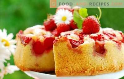Pie with strawberries in a hurry - that's what he is shustrik! Recipes of the fastest strawberry whip