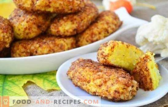Cauliflower cutlets - sparingly, tasty, healthy! Lenten and ordinary recipes for cauliflower cutlets