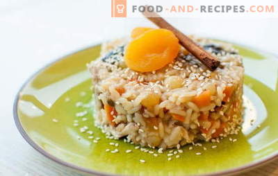 Pilaf with raisins is a healthy dish with a wonderful aroma! A selection of different pilaf recipes with raisins: plain and sweet