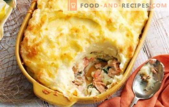 Fish casserole in the oven - a masterpiece of simple products! Variants of fish casseroles in the oven with rice, potatoes, cabbage, vegetable mix