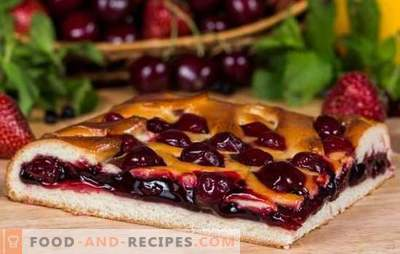 Simple cherry pie - quick and tasty pastries. Cooking a simple cherry pie: the young housewife can handle it