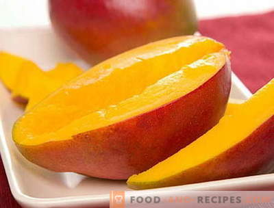Mango - description, useful properties, use in cooking. Recipes with mango.