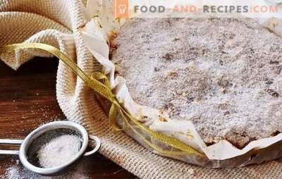 Dry apple pie - no need to knead the dough! Recipes of different dry pies with apples on a decoy, oatmeal, flour