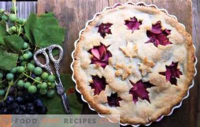 Pie with grapes - everyone will be happy for him! Recipes sand, biscuit, puff and yeast pies with grapes
