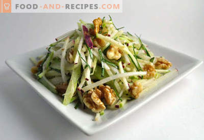 Walnut Salad - Proven Recipes. How to properly and tasty to prepare a salad with walnuts.