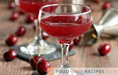 Sweet cherry pouring with sugar, vodka, wine and spices. How to make a delicious and healthy curd liqueur?