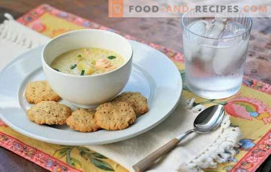Fish soup with cream - an alternative to the ear. The best recipes for fish soup with cream of salmon, mackerel, pollock, trout and pink salmon