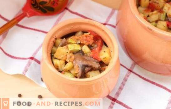 Stews in the pot in the oven: recipes and secrets. How to cook vegetable, meat, mushroom stew in pots in the oven