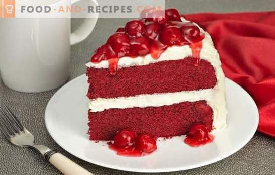 Red Velvet Cake is a bright, tasty treat. The best recipes of the famous cake