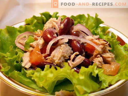 Salad with beans - the best recipes. How to properly and tasty cooked salad with beans.