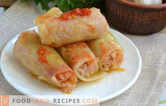 Cabbage rolls in the microwave - a quick and easy way to cook! Recipes of classic meat, dietary and lazy cabbage rolls for the microwave oven